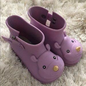 Mini Melisaa Rain Boots Size 7